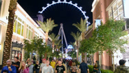 Stock Video Footage of The Linq - new shopping center, High Roller, Las Vegas Strip.