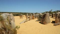 The pinnacles, nambung national park, cervantes, australia Stock Footage