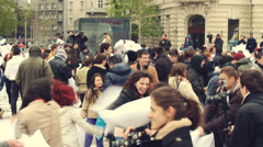 International Pillow Fight Day 2014 Stock Footage