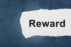 reward with white paper tears - stock photo