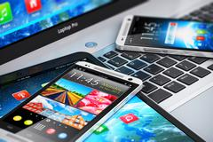 Modern mobile devices Stock Photos