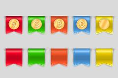 Stock Illustration of collection of coins for finance