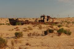 Aral Sea at Moynaq Stock Photos