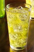 Green energy drink soda Stock Photos