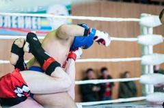 Volga federal district championship in mixed martial arts. Stock Photos