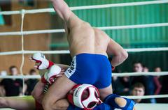 volga federal district championship in mixed martial arts. - stock photo
