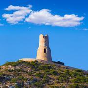 Denia torre del gerro tower mediterranean alicante Stock Photos
