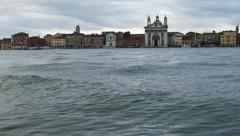 0329 Venice, water growing in a rainy day Stock Footage