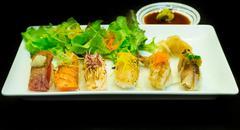 japanese seafood sushi.. - stock photo