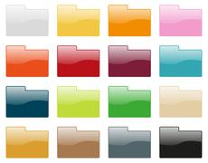 Folder icon collection Stock Illustration