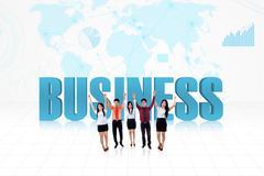Business success team Stock Illustration