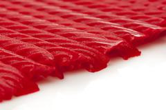 bright red licorice candy - stock photo