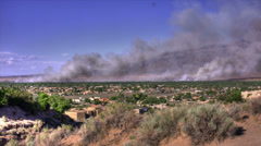 bosque corrales fire wide 2012 - stock footage