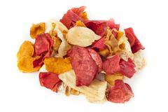 fresh cut organic vegetable chips - stock photo