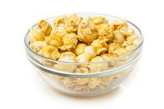 Homemade fresh popped caramel popcorn Stock Photos