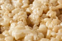 marshmallow crispy rice treat - stock photo