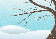winter tre illustration - stock illustration
