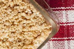 Marshmallow crispy rice treat Stock Photos