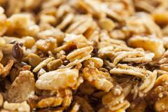 organic granola cereal - stock photo