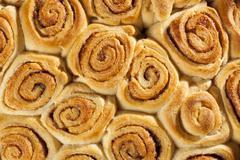 Homemade mini cinnamon rolls Stock Photos