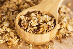 Organic granola cereal Stock Photos