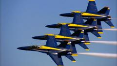 Blue Angels Fly By Stock Footage