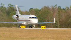 Stock Video Footage of Bombardier Challenger Jet Take Off MCU