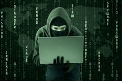 Stealing online information 1 Stock Illustration