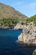 Torrent de pareis - sa calobra bay in majorca spain Stock Photos