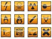 Stock Illustration of danger symbols icon