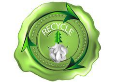 Recycle symbol Stock Illustration