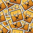 Stock Illustration of sticker danger symbols