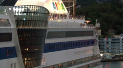 Close up of Aida Bella cruise ship Stock Footage