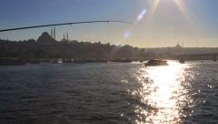 Golden Horn water reflections Stock Footage