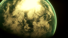 the earth from space, epic intro - stock footage