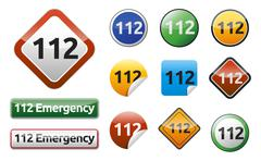 Emergency call 112 Stock Illustration