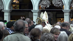Religious manifestation in San Marco Square, Venice Stock Footage