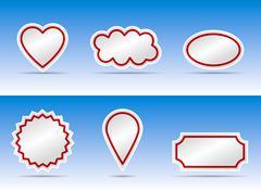 Banner color variation Stock Illustration