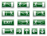 Stock Illustration of danger exit warning sign