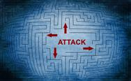 Stock Illustration of attack maze concept