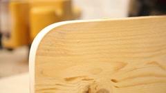 Carpenter polishing surface 1 Stock Footage