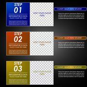 Infographic option concept - stock illustration
