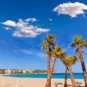 Javea xabia playa del arenal in mediterranean spain Stock Photos
