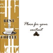 Background with cup of coffee Stock Illustration