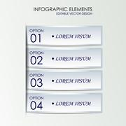 Stock Illustration of Infographic option concept