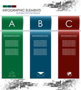 Infographic option banner - stock illustration