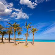 javea xabia playa del arenal in mediterranean spain - stock photo