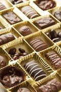 box of assorted chocolates - stock photo