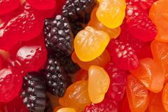 organic fruit gummy snacks for kids - stock photo