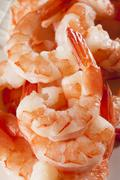 fresh organic shrimp cocktail - stock photo